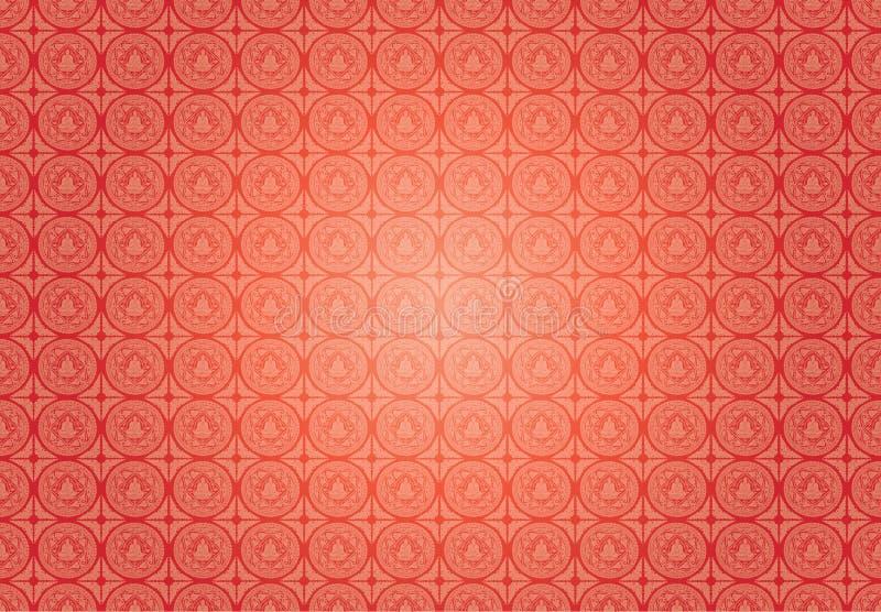 Vector Buddha patterns background royalty free illustration