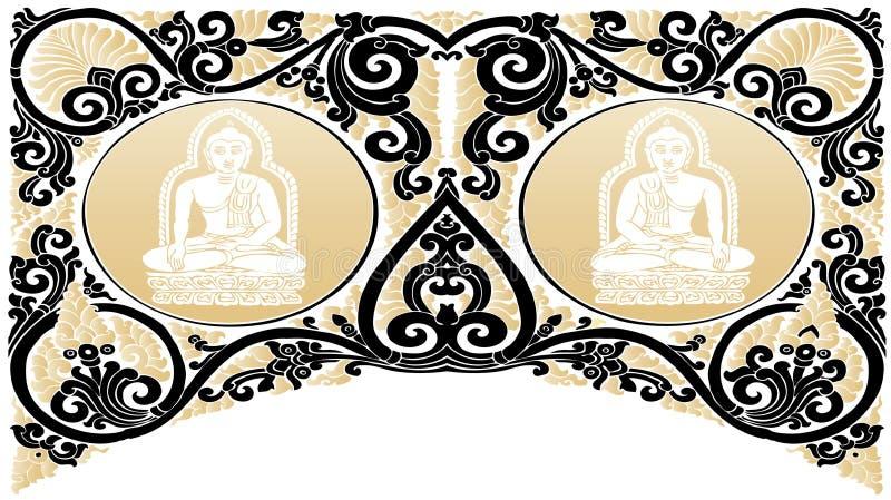 Vector Buddha patterns royalty free illustration