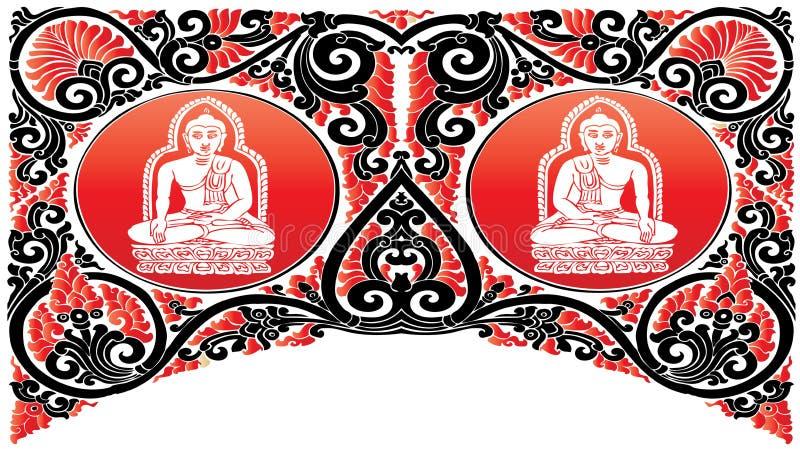 Vector Buddha patterns vector illustration
