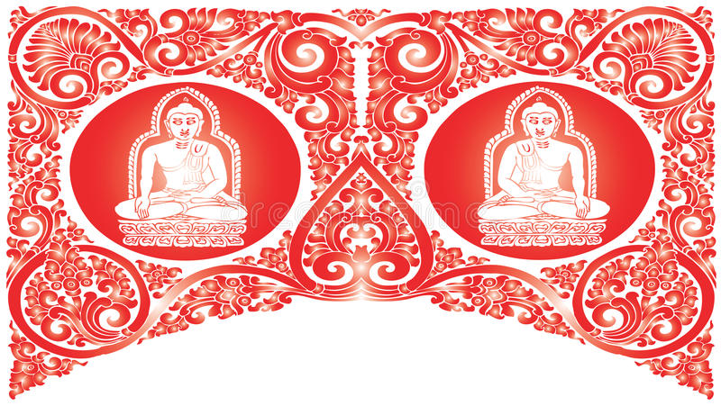 Vector Buddha patterns stock illustration