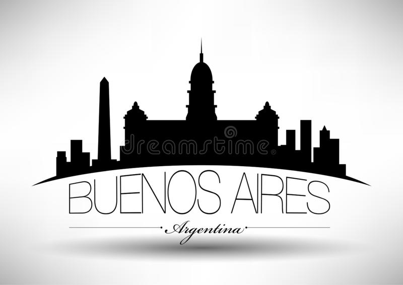 Vector Buenos Aires City Skyline Design vector illustration