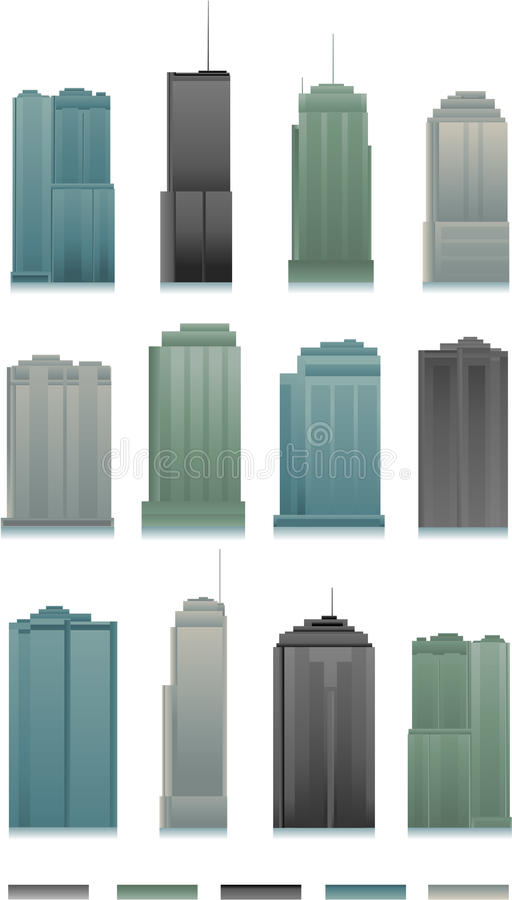 Vector buildings stock illustration