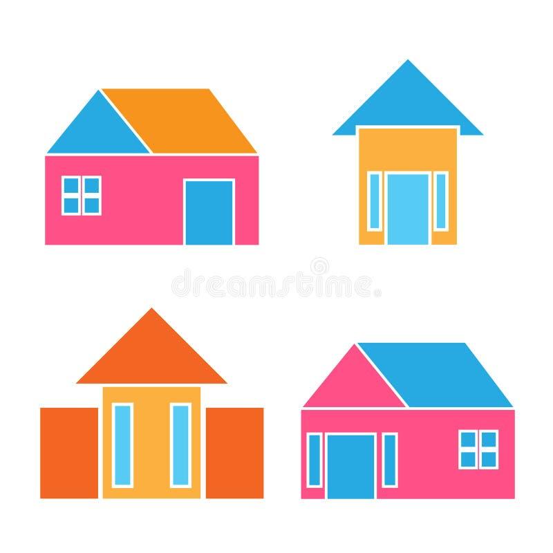 Vector buildings home house real estate logo vector illustration