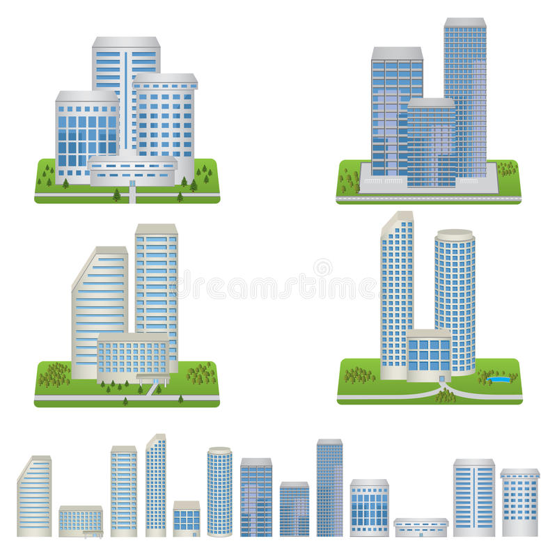 Download Vector Buildings Set stock vector. Image of property - 36201879