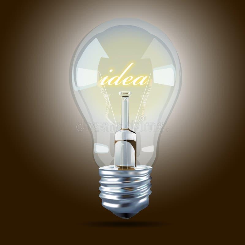 Vector of Bulb light idea. EPS.10 royalty free illustration
