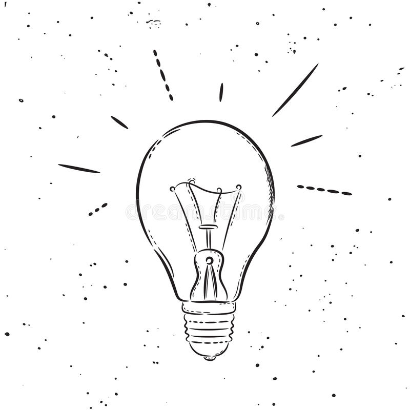 Vector bulb poster royalty free illustration