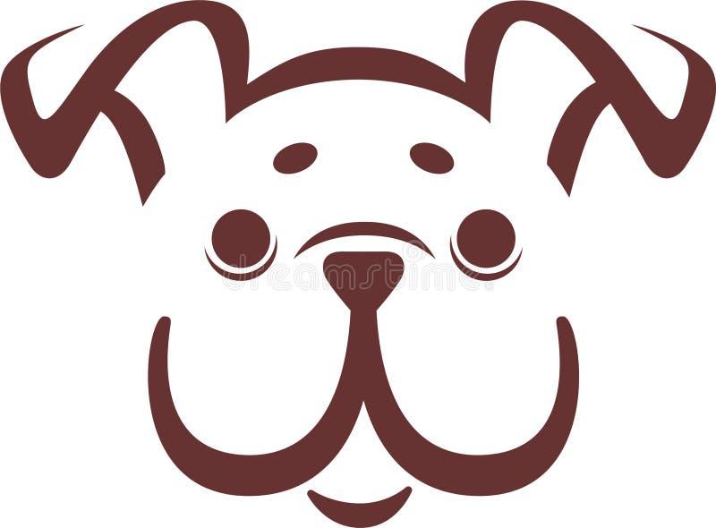 Vector bulldog puppy vector illustration