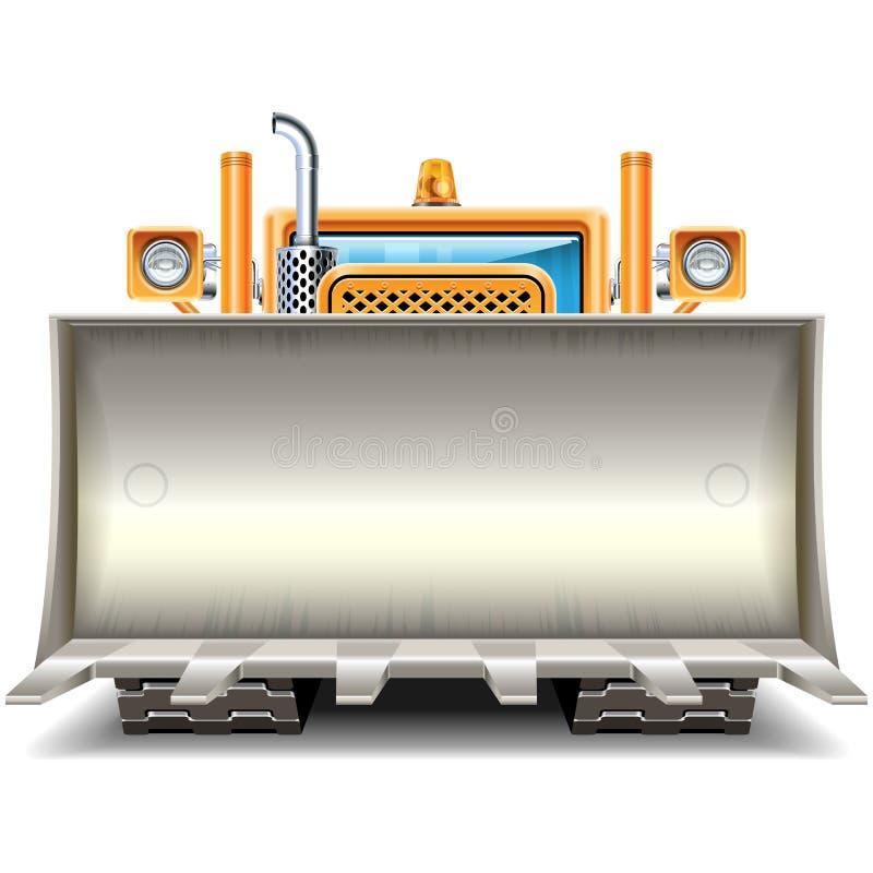 Vector Bulldozer Shovel Frame stock illustration