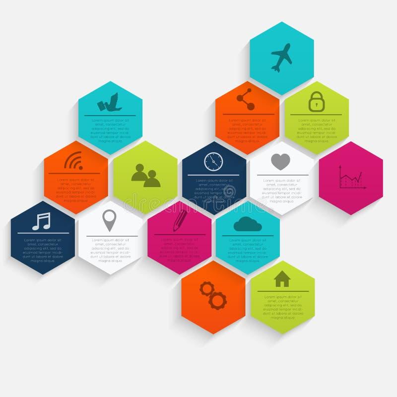 Vector bunte Informationsgraphiken für Ihre Geschäftsdarstellungen stock abbildung