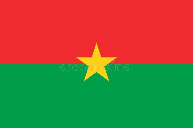 Burkina Faso Flag stock illustration