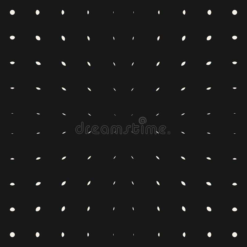 Vector burst pattern. White dots and lines on black background. Radial halftone stock illustration