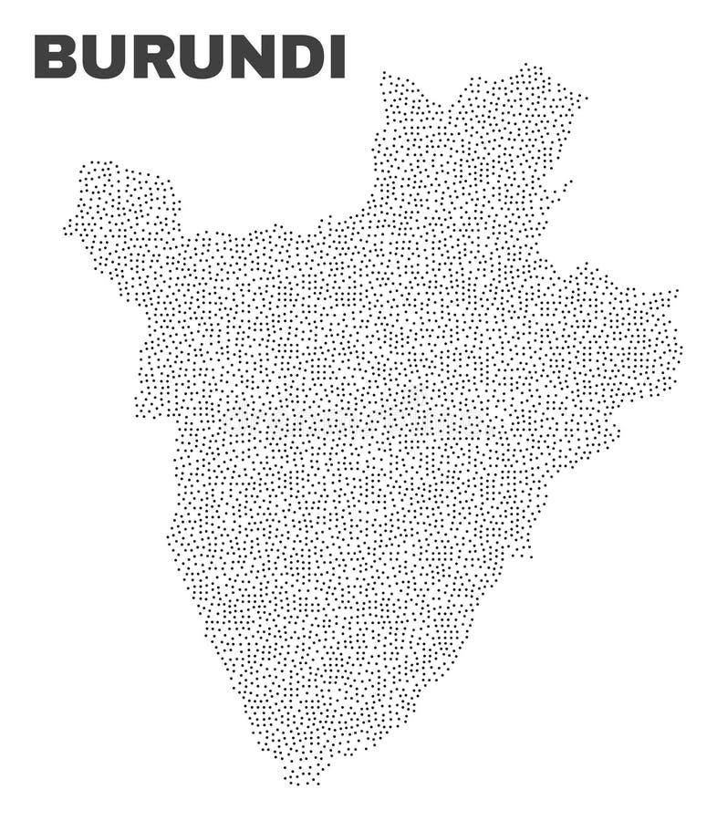 Vector Burundi Map of Dots stock illustration