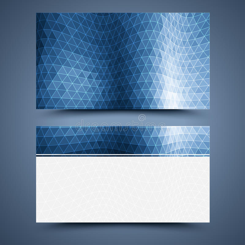 Blue business card template. Abstract background royalty free illustration
