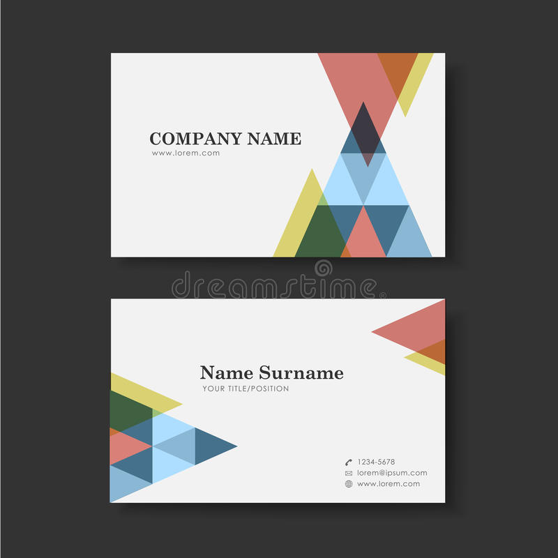 Vector business card design template of triangle stock vector download vector business card design template of triangle stock vector illustration of calling mobile reheart Gallery