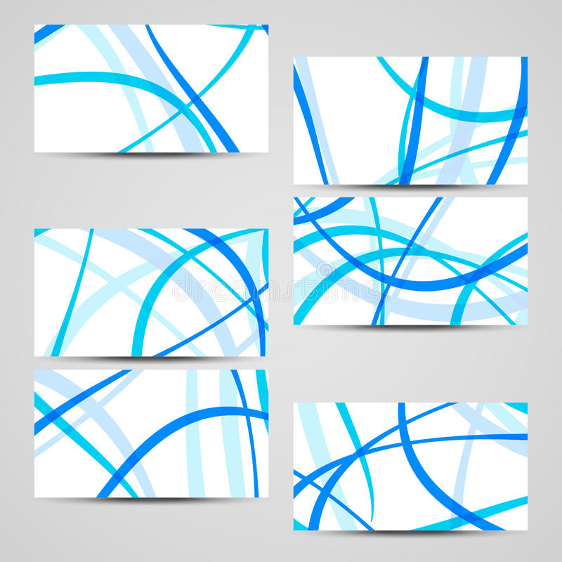 Vector business-card set for your design royalty free stock photography