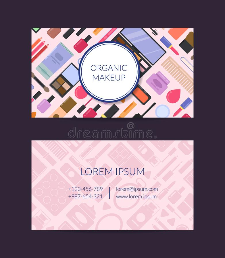 Vector business card template for beauty brand or makeup artist download vector business card template for beauty brand or makeup artist stock vector illustration of colourmoves