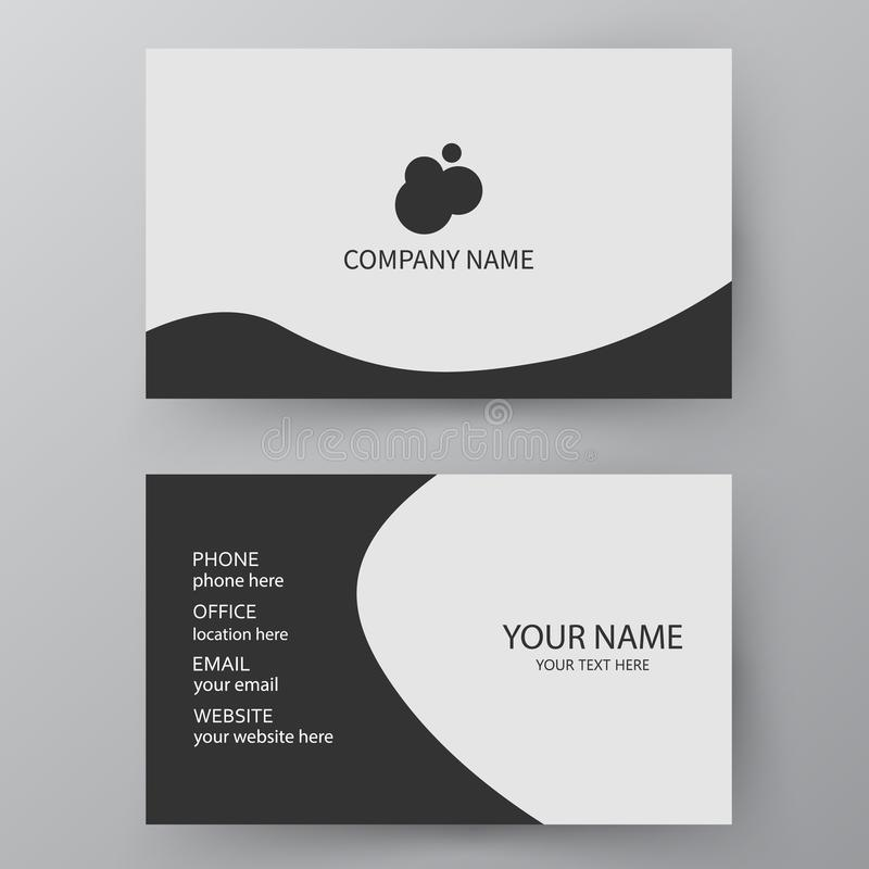 Vector Business Card Template. Visiting Card For Business And Pe ...