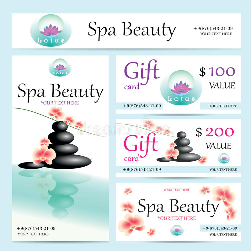 Vector Business Cards And Poster For Spa Salon Stock Vector ...