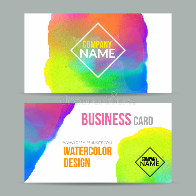 Vector business cards template with watercolor paint abstract download vector business cards template with watercolor paint abstract background business card mockup stock vector flashek Choice Image
