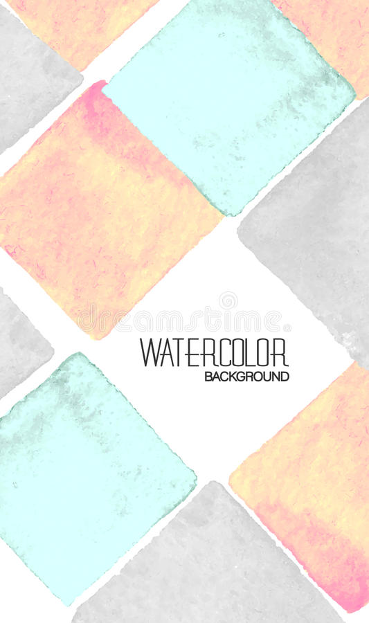 Vector Business Cards With Watercolor Paint Abstract ...