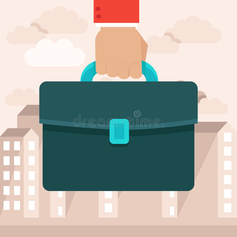 Vector business concept in flat style vector illustration