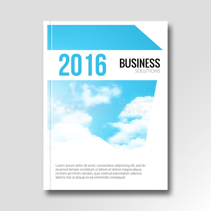 Vector business cover flyer design. Catalog illustration template. Booklet graphic sky design. Brochure or report template.  royalty free illustration