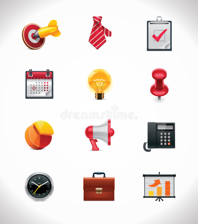 Vector business icon set royalty free illustration