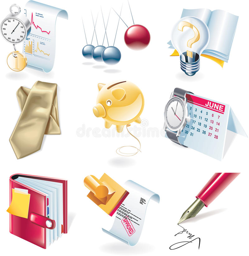Free Vector Business Icon Set Stock Photo - 9760080