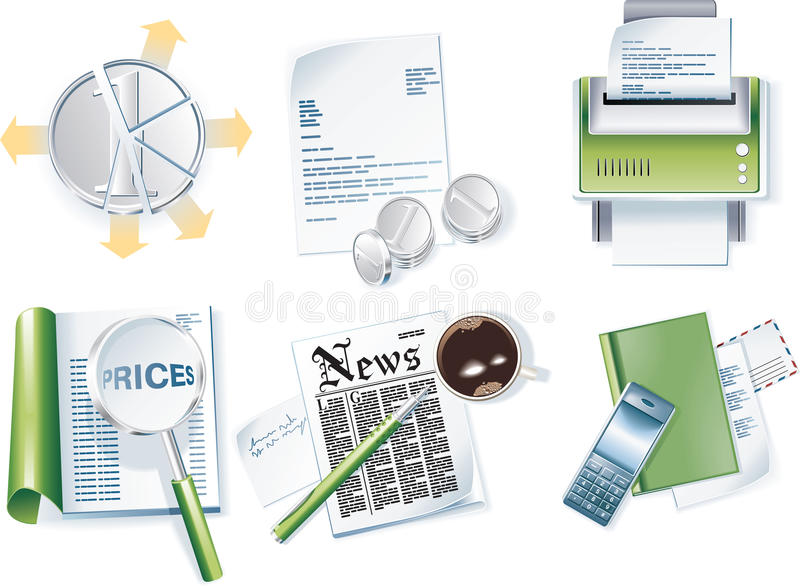 Download Vector Business Icon Set. Part 1 Stock Vector - Image: 9392622