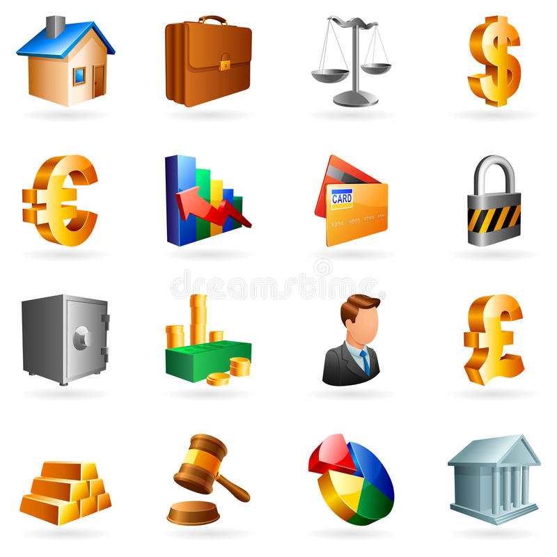 Download Vector Business Icons. Royalty Free Stock Image - Image: 11147856
