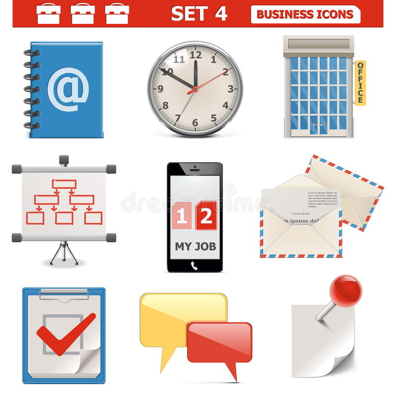 Download Vector Business Icons Set 4 Royalty Free Stock Photography - Image: 33951197