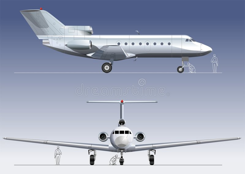Vector business-jet vector illustration