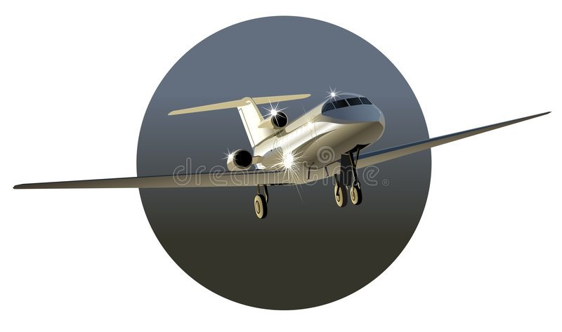 Download Vector Business-jet Royalty Free Stock Photos - Image: 5429248