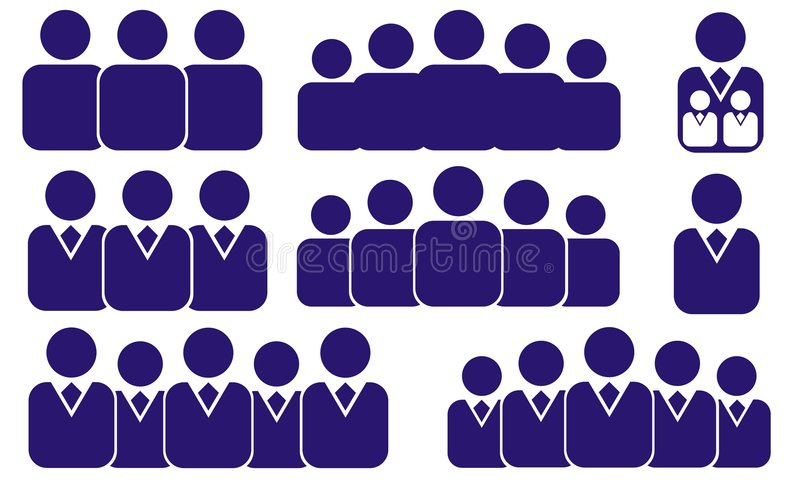Vector business people vector illustration