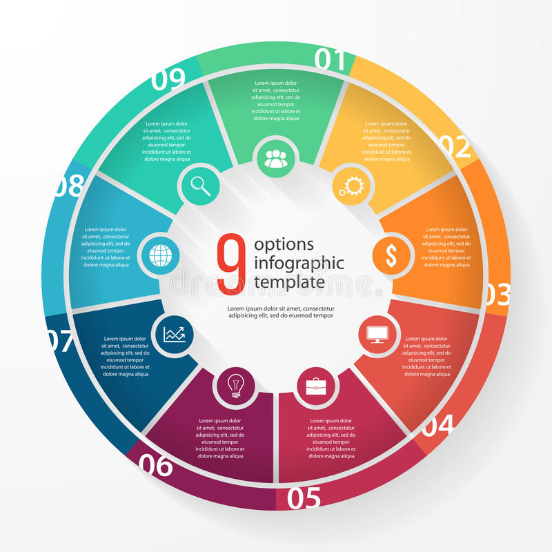 Vector business pie chart circle infographic template stock illustration