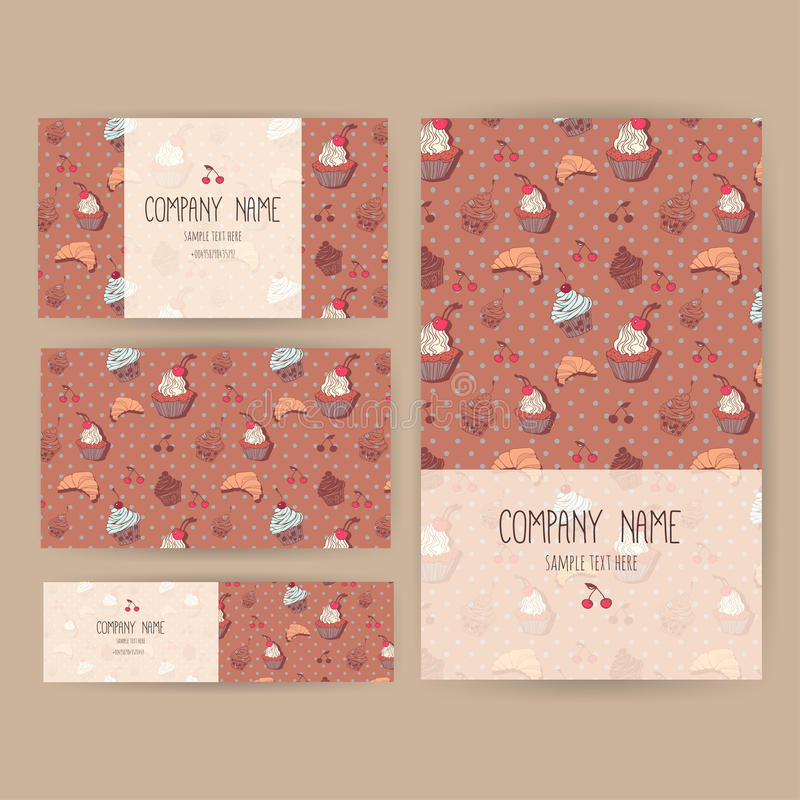 Vector business set template with cute hand drawn dessert download vector business set template with cute hand drawn dessert illustrations restaurant or cafe branding reheart Image collections