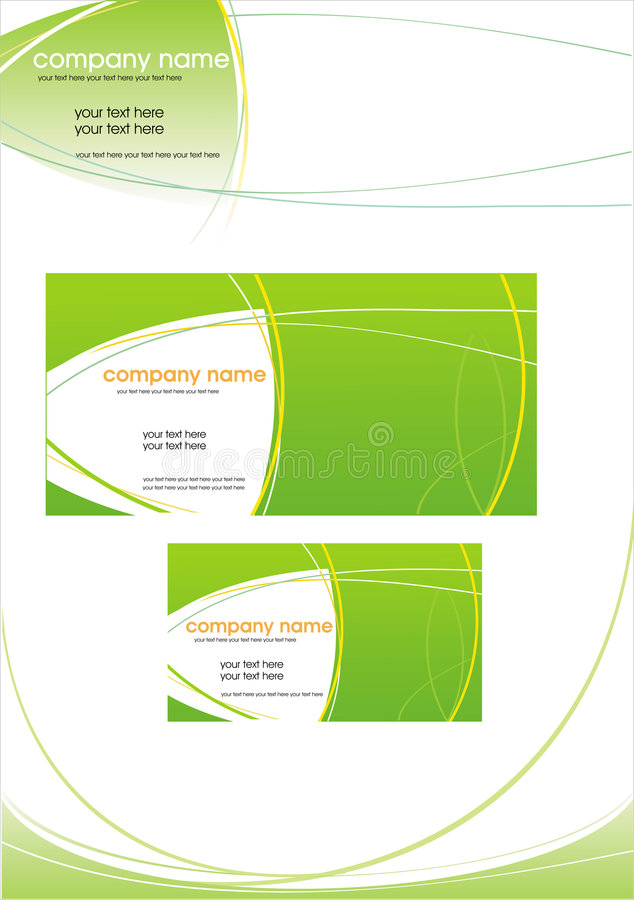 Vector business stationery royalty free stock photo