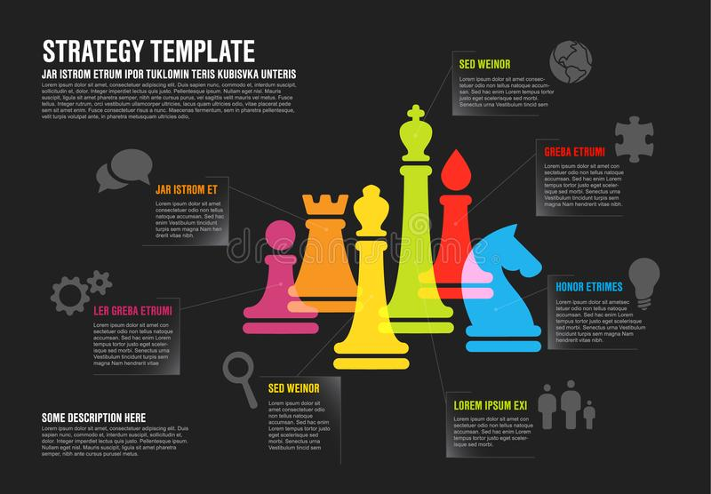 Vector business strategy infographic template infographic stock illustration