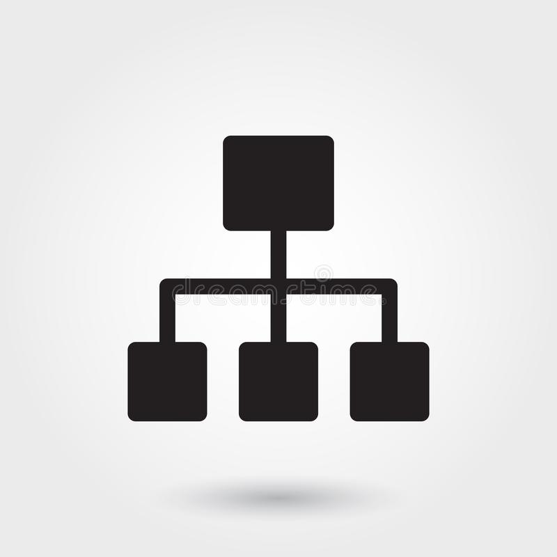 Vector, Business Structure Glyph Icon for any purposes perfect for website royalty free illustration