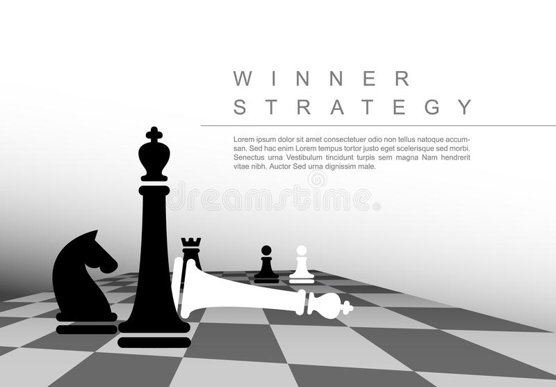 Vector business winner strategy concept template stock illustration