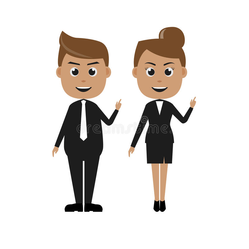 Vector of businessman&businesswoman charactor. Vector illustration of businessman and businesswoman charactor/can use for info graphic etc vector illustration