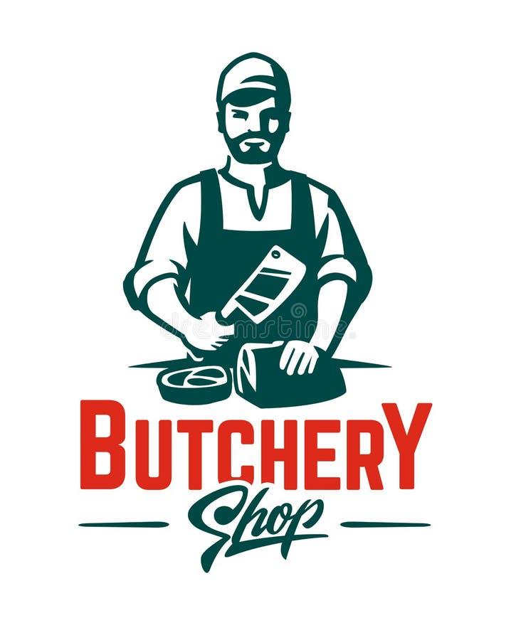 vector butcher emblem stock vector illustration of restaurant rh dreamstime com butcher logo design butcher ligonier pa