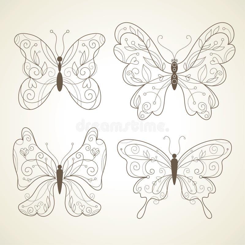 Vector butterflies vector illustration
