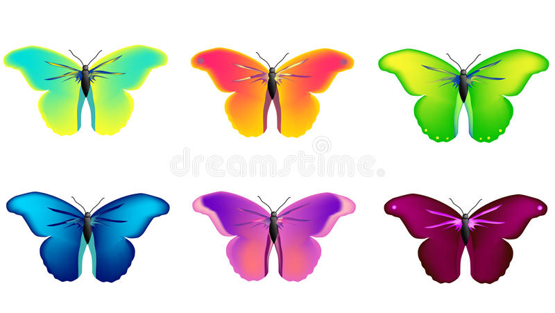Vector butterflies royalty free illustration