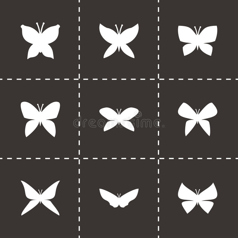 Vector butterfly icon set stock illustration
