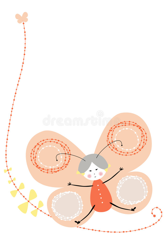 Download Vector butterfly orange stock vector. Illustration of beautiful - 7283471