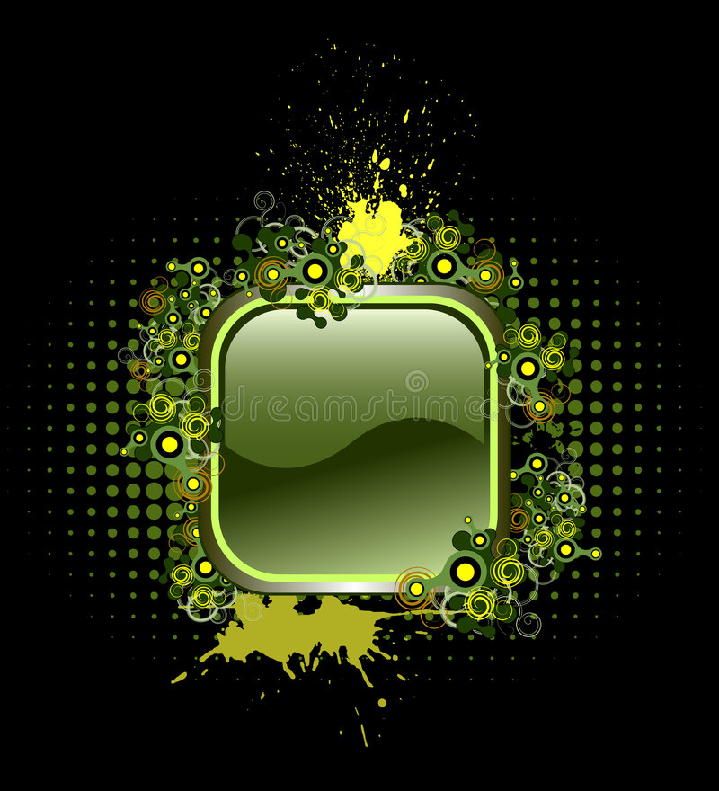 Download Vector Button With Popular Elements Stock Photo - Image: 5472420