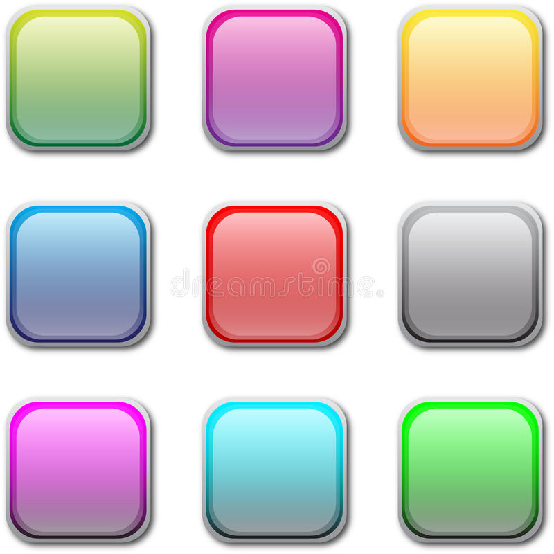 Download Vector buttons stock vector. Illustration of bright, icon - 19314033