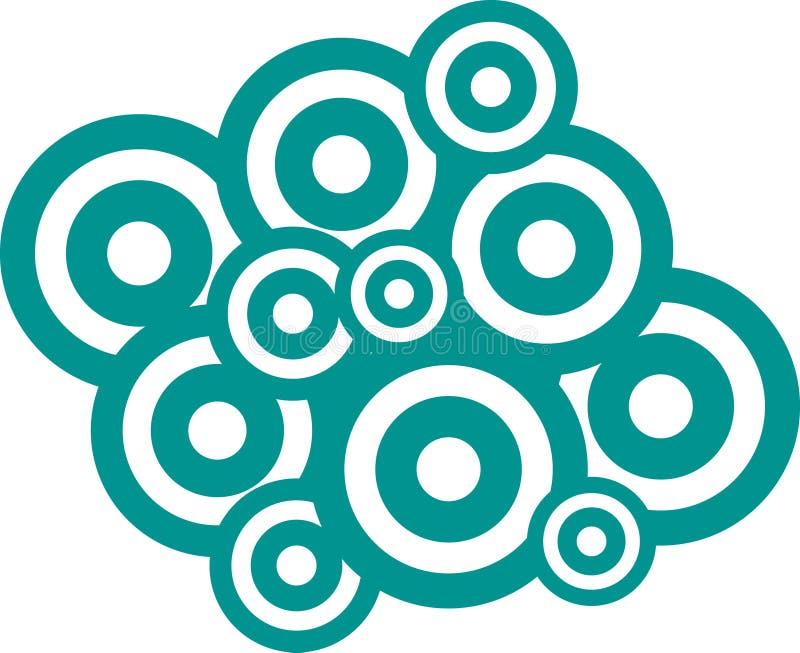 Vector círculos ilustração stock