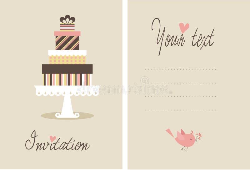 Vector cake royalty-vrije illustratie